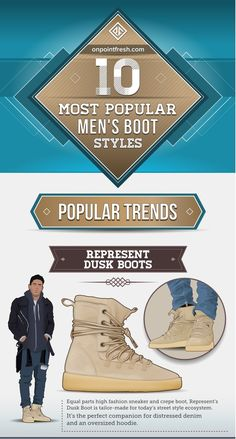 Step up the shoes game with this 10 MOST POPULAR MEN'S BOOTS TODAY #Boots #Shoes #Menswear  Which one is your favorite?