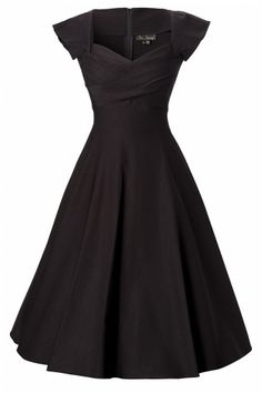 50s swing dress black