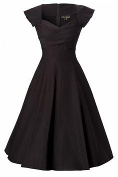 50s swing dress black. Love. This.  Lbd love