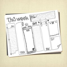 Prinable Weekly To Do List Planner Instant für ARTiculatePRINTS Source by nalonsoruano