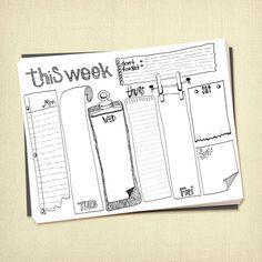 Prinable wöchentlich zu tun Liste Planer von ARTiculatePRINTS