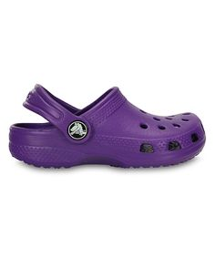 a9cbca2506bdc Look at this Crocs Neon Purple Classic Clog - Infant, Toddler & Girls on