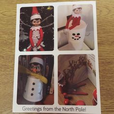 Elf On The Shelf | 2016 | A couple of weeks ago, Loki sent us a postcard to let us know he'd be visiting soon! #OurElfOnTheShelf