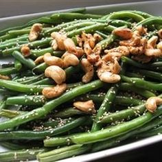 "Japanese-Style Sesame Green Beans | ""Quick and simple. It's perfect for busy weeknights. I loved pairing this light side dish with a spicy entree. """