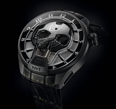 HYT is back in our minds and dreams with a new awesome creation called the HYT Skull Bad Boy, an opaque black beauty, with a new liquid which surrounds the mechanism