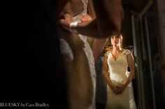 Charlotte NC wedding at The Mint Museum bride getting ready nervously