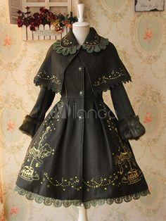 Carousel Lolita Coat Harajuku Fashion, Kawaii Fashion, Lolita Fashion, Old Fashion Dresses, Fashion Outfits, Pretty Dresses, Beautiful Dresses, Gothic Mode, Kawaii Clothes