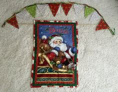 Christmas wall hanging and Christmas banner two peice set Two styles by GeeGeeGoGo on Etsy
