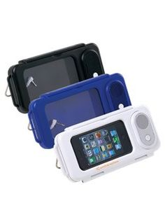 Water Resistant Speaker - Put this case on your phone and enjoy piece of mind around the water.  Easy snap of the top closure will keep your device secure all day.  Add your logo to the side for instant advertisement!  #funwithwater #promoproducts #safeandsound #jamminoutwaterproof www.spencergear.com