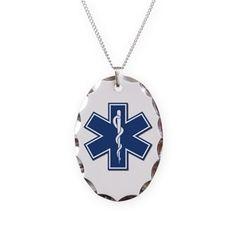 EMT Paramedic EMS Charm Necklace