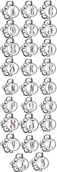 Monogram Sets - Fancy Round Frames Monogram Alphabet Font for only 7.99 !!!