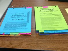 common core flip books...for every grade level!!! It's fantastic!!