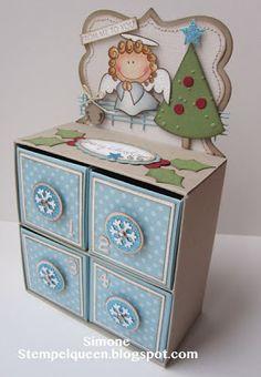 Stempeleinmaleins: (Adventskalender) Kommode - (advent calendar) dresser