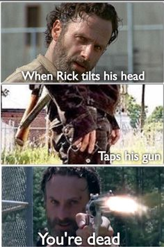 Rick Grimes' head tilt - The Walking Dead