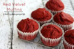 These RED VELVET MUFFINS have just the slightest bit of sweetness and the perfect color of red!