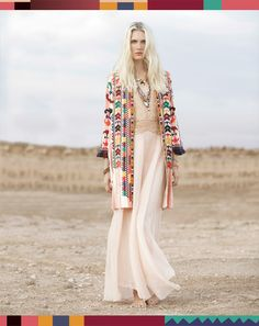 editorial / boho chic / desert / look book / white dress / bright color fabric / the brand gals / bohemian / look book
