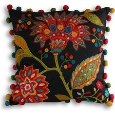 Paoletti Bengal 43x43cm Cushion, Multi Burlap Pillows, Decorative Pillows, Throw Pillows, Cushion Covers, Pillow Covers, Hand Embroidery, Embroidery Designs, Felt Pillow, Embroidered Cushions