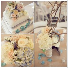 Beautiful country wedding centerpieces