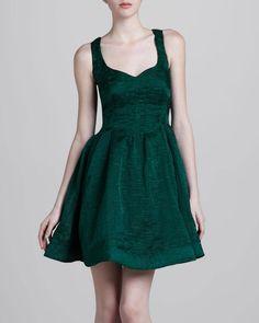 Gorgeous deep green color dress. Silk dress.