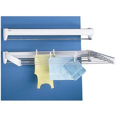 Air dry your clothing with this handy extending wall drying rack - Perfect for small laundry rooms because it takes up almost no space when not in use