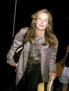 Meryl Streep during Wrap-Up Party for 'She-Devil' - July 7, 1989 at Caroline's…