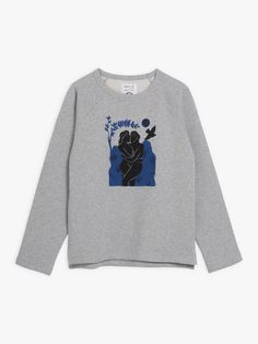 sweat mixte emilio Carne Bollente gris et bleu | agnès b. Emilio, Graphic Sweatshirt, Sweatshirts, Sweaters, Collection, Fashion, Gray, Blue, Moda
