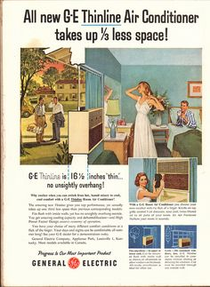 1956 General Electric Thinline Air Conditioner Advertisement Time Magazine June 25 1956 | by SenseiAlan