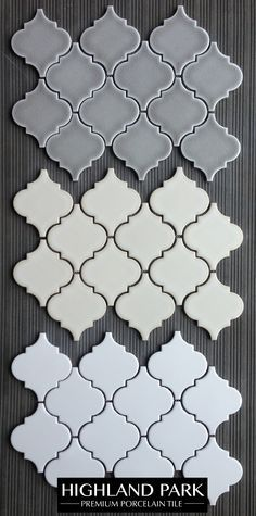 Highland Park Arabesque Porcelain Mosaic Tile for $11.50 a square foot is a great choice for a kitchen backsplash or bathroom feature. Available online from The Builder Depot.