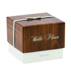 Wood Grain Rigid set up box with Ribbon