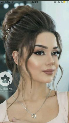 10 Highly Beneficial New Messy Bun Hairstyles 2019 : Have a look! - Glam Girl Beauty - - 10 Highly Beneficial New Messy Bun Hairstyles 2019 : Have a look! Bridal Hair And Makeup, Wedding Hair And Makeup, Hair Makeup, Hair Wedding, Makeup For Brides, Pakistani Bridal Makeup, Eye Makeup, Bridal Hair Buns, Wedding Make Up