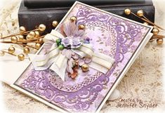 Scrap Escape: DIY Grace - Delicate Cards Made Easy Scrap Escape: DIY Grace - Delicate Cards Made Easy  - These cards feature the Chantilly Lace collection by Becca Feeken ( Amazing Paper Grace).    DIY on my blog  #NeverStopMaking #Spellbinders  #Spellbloggers  #purplecards #DIYcards