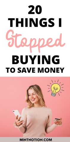How to stop buying things. Here's a list of 20 things I quit buying to save money. Tips to help you stop buying too much stuff or things you don't need. Life On A Budget, Debt Free Living, Paying Off Student Loans, Create A Budget, I Quit, Saving For Retirement, Frugal Living Tips, Love Your Life, Life Advice