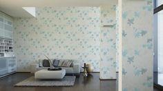 Daniel Hechter Tapete 952845; simuliert auf der Wand