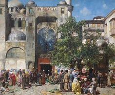 Mercato in Oriente  by Alberto Pasini (really, I'd like almost any Pasini)