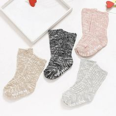 NEW 10 Pair Lovely Newborn Baby Girls Boys Soft Socks Mixed Colors Unique NWUS
