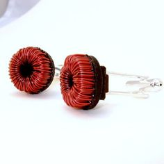 Electronics Cufflinks Red now featured on Fab.