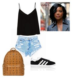 """Untitled #7"" by lxcia-xx on Polyvore featuring Raey, adidas and MCM"