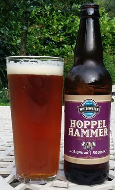 Hoppel Hammer Triple Hopped IPA from Whitewater Brewery. A lovely traditional-style IPA - deep and complex with a great hop-bite. 9/10