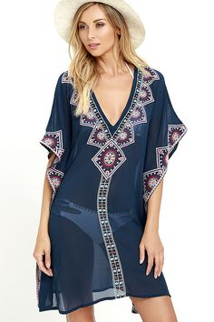 b361c2b328 The sun will be your BFF when you re sporting the Canal Cruise Navy Blue.  Beach Cover UpsSwim ...
