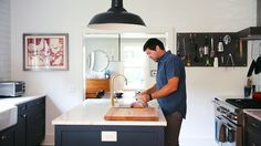 Chef Mike Lata shows off his minimalist style to modernize his centuries-old Charleston kitchen.