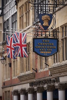 The Chester Grosvener hotel, Chester, England..even took my own picture of this place (had to, my father's name is Chester)