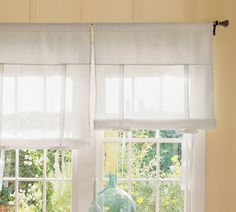 Cozy.Cottage.Cute.: Pottery Barn Knock-Off Tie-Up Shade (picture is of the original PB inspiration)