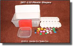 Sorting shapes in ice trays - easy to make