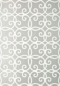 Kendall #wallpaper in #silver from the Geometric Resource 2 collection. #Thibaut