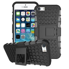 For iPhone se iphone 5 Hybrid Kickstand Rugged Rubber Armor Hard PC+TPU With Stand Function Cover Case Iphone 8, Iphone 5 Cases, Apple Iphone 5, Coque Iphone, 5s Cases, Cheap Phone Cases, Leather Card Wallet, Gadget Gifts, Gadgets And Gizmos