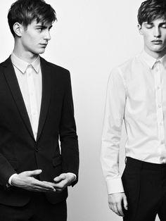 Male Fashion Trends: Fillipa K Fall/Winter 2013: Una campaña más en blanco y negro