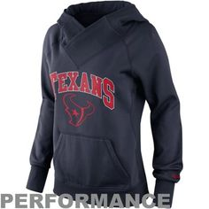 Nike Houston Texans Ladies Die-Hard Full Zip Performance Hoodie ...