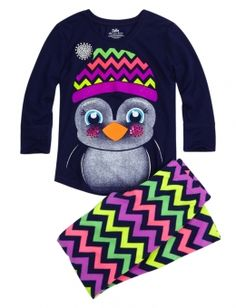 Cozy Soft Fleece Penguin Pajama Set