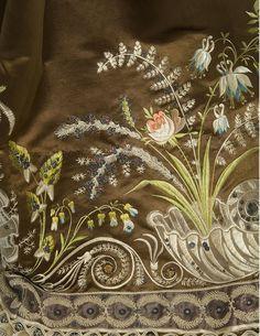 Plays With Needles: stumpwork - /laarisarudenko/embroidery/ 477 pins NOTICE bottom embroidery! Silk Ribbon Embroidery, Embroidery Stitches, Machine Embroidery, Embroidery Designs, Textiles, Art Du Fil, Retro Mode, Passementerie, Motif Floral