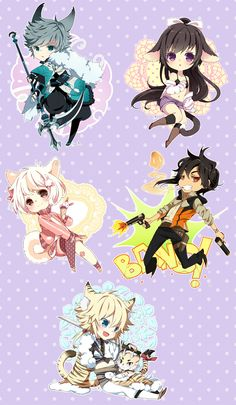 Chibi commission batch 31 by inma.deviantart.com on @deviantART